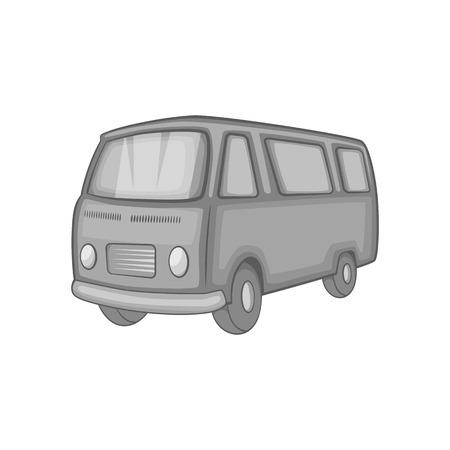 Klassische van, Retro-Stil-Symbol in schwarz einfarbig Stil auf einem weißen Hintergrund Vektor-Illustration Vektorgrafik