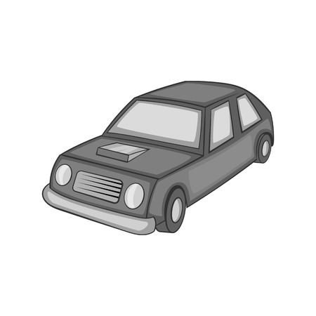 Car icon in black monochrome style on a white background vector illustration