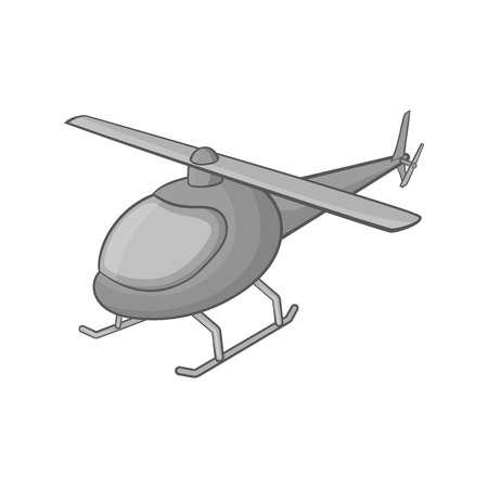 emergency engine: Helicopter icon in black monochrome style on a white background vector illustration