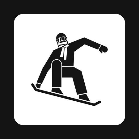 symbol sport: Snowboarder Symbol in einfachen Stil auf weißen Hintergrund. Sport Symbol Vektor-Illustration Illustration