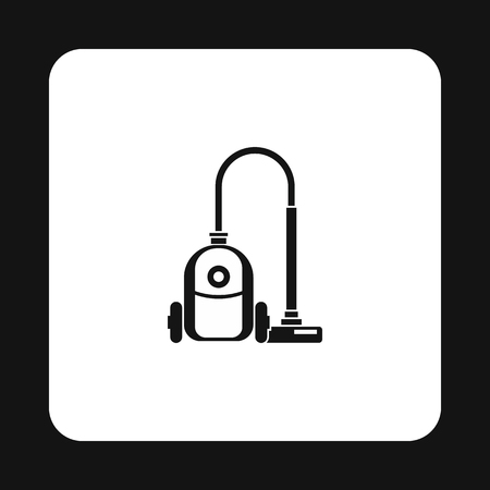 vac: Vacuum cleaner icon in simple style isolated on white background. Home appliances symbol vector illustration Illustration