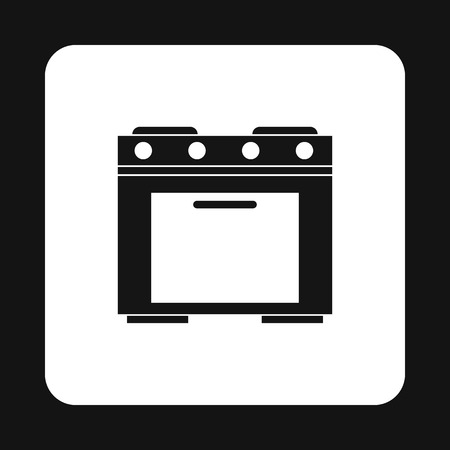 gas appliances: Gas stove icon in simple style isolated on white background. Home appliances symbol vector illustration