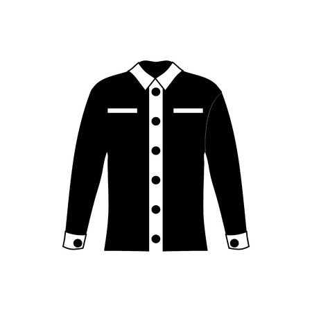 men shirt: Men shirt icon in simple style isolated on white background. Clothing symbol vector illustration