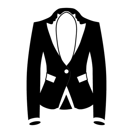 blazer: Womens blazer icon in simple style isolated on white background. Clothing symbol vector illustration