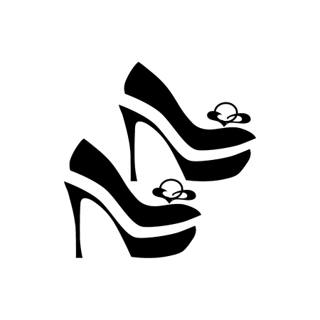 dressy: Women dressy shoes icon in simple style isolated on white background. Wear symbol vector illustration