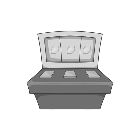 slot in: Slot machine icon in black monochrome style on a white background vector illustration