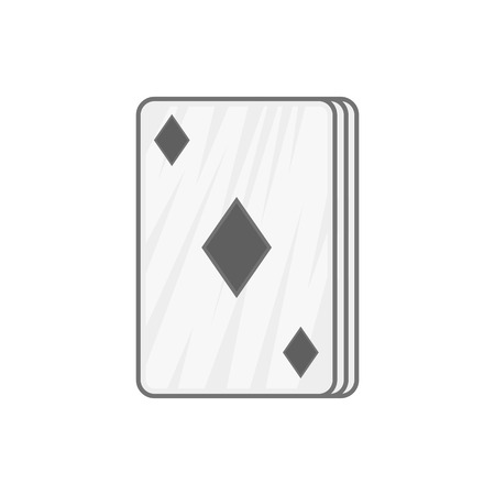 ace of diamonds: Ace of diamonds icon in black monochrome style on a white background vector illustration