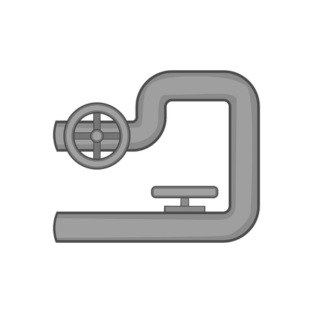 shutoff: Petroleum pipeline icon in black monochrome style on a white background vector illustration