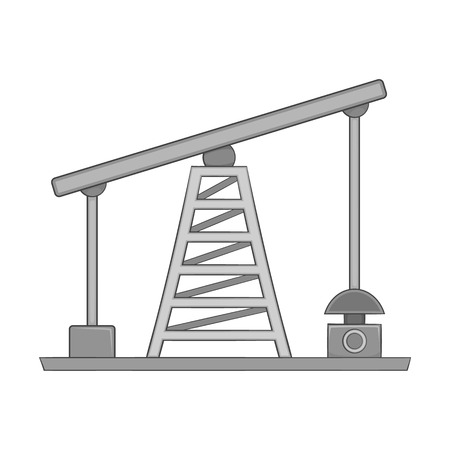 nonrenewable: Oil pump icon in black monochrome style on a white background vector illustration