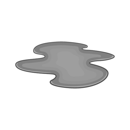 oil spill: Oil spill icon in black monochrome style on a white background vector illustration
