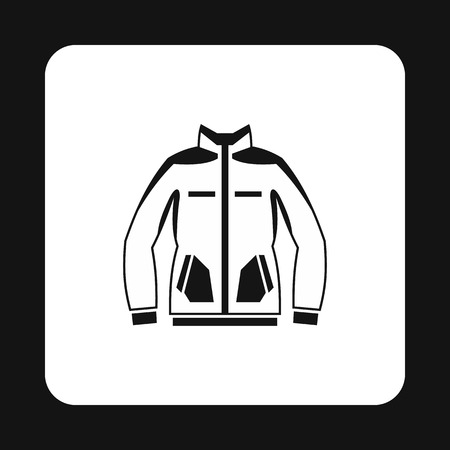 Mens winter jacket icon in simple style isolated on white background. Clothing symbol vector illustration Illustration
