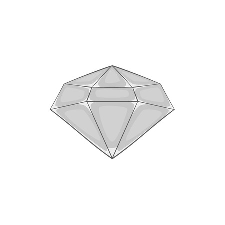 scintillation: Diamond icon in black monochrome style on a white background vector illustration