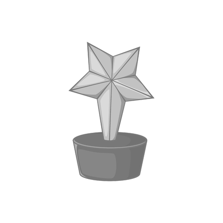 star award: Star award icon in black monochrome style on a white background vector illustration
