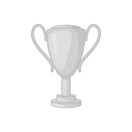 Winner cup icon in black monochrome style on a white background vector illustration