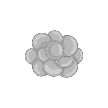 Group of viruses icon in black monochrome style on a white background vector illustration
