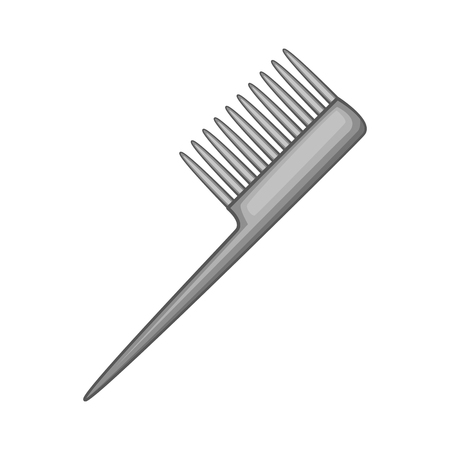 personal grooming: Comb icon in black monochrome style isolated on white background vector illustration