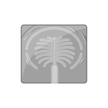 artificially: Artificial islands in UAE icon in black monochrome style isolated on white background. Structure symbol vector illustration