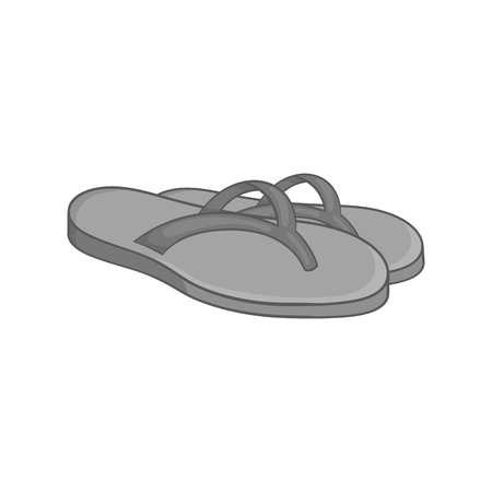 thongs: Beach thongs icon in black monochrome style on a white background vector illustration Illustration