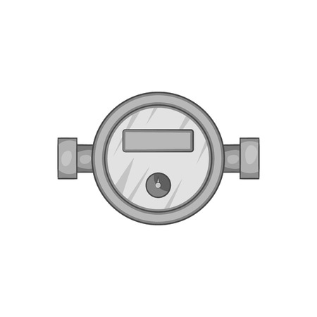 Water Meter Icon In Black Monochrome Style Isolated On White ...