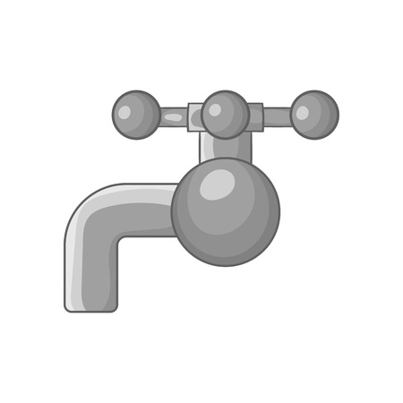 coupling: Valve on pipe icon in black monochrome style isolated on white background. Plumbing symbol vector illustration Illustration