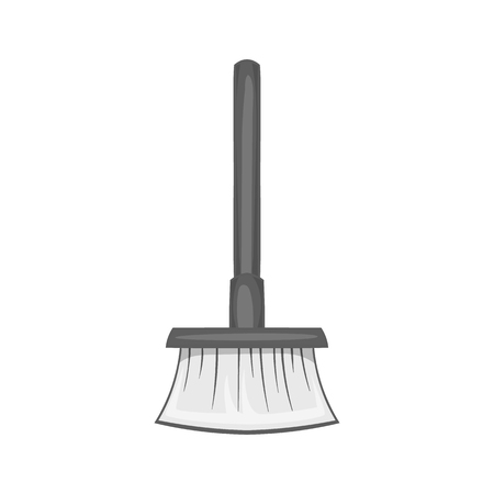 besom: Broom icon in black monochrome style isolated on white background. Cleaning symbol vector illustration