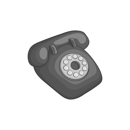 determinant: Phone handset icon in black monochrome style isolated on white background. Conversations symbol vector illustration
