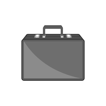 diplomat: Diplomat icon in black monochrome style isolated on white background. Bag symbol vector illustration