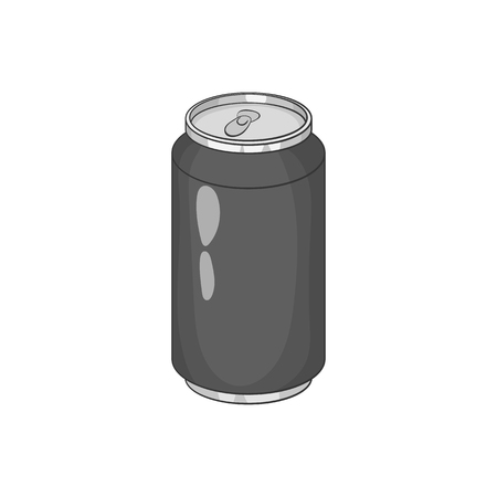 carbonated: Carbonated drink icon in black monochrome style isolated on white background. Drink symbol vector illustration