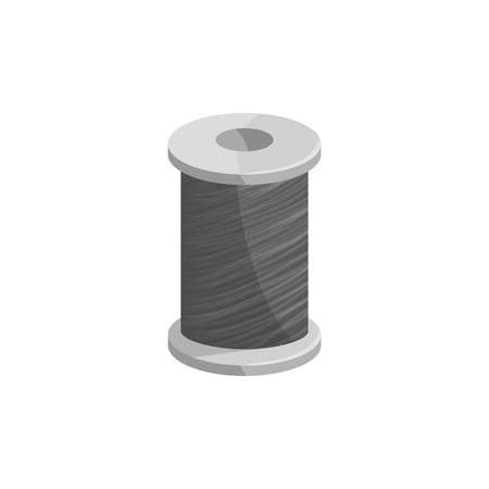 coil: Coil fishing line icon in black monochrome style isolated on white background vector illustration