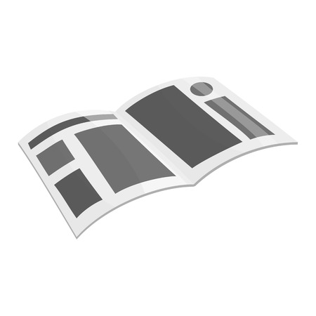 advertising column: Magazine with place for advertising icon in black monochrome style isolated on white background vector illustration Illustration