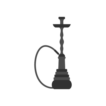 pipa: Hookah icon in flat style on a white background vector illustration Illustration