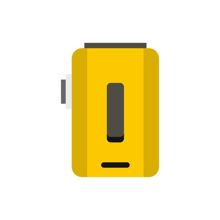 e cig: Box mod, vaporizer icon in flat style on a white background vector illustration