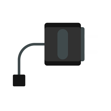 purported: Electronic cigarette charger icon in flat style on a white background vector illustration Illustration