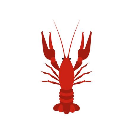 Crayfish Symbol in flachen Stil auf einem weißen Hintergrund Vektor-Illustration Standard-Bild - 63559568