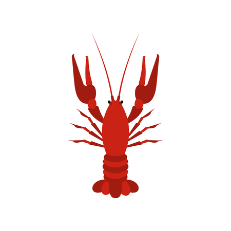 Crayfish icon in flat style on a white background vector illustration