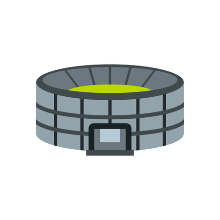 real tennis: Stadium icon in flat style on a white background vector illustration