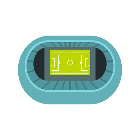 real tennis: Stadium top view icon in flat style on a white background vector illustration