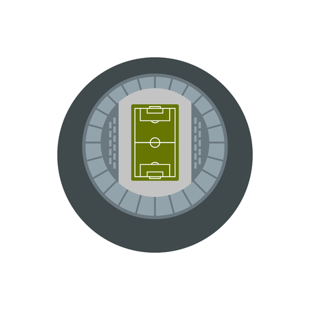 real tennis: Round stadium top view icon in flat style on a white background vector illustration Illustration