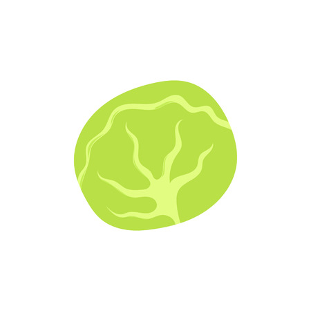 Cabbage icon in cartoon style isolated on white background vector illustration Illustration