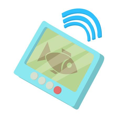Fishing echo sounder icon in cartoon style isolated on white background vector illustration Illustration