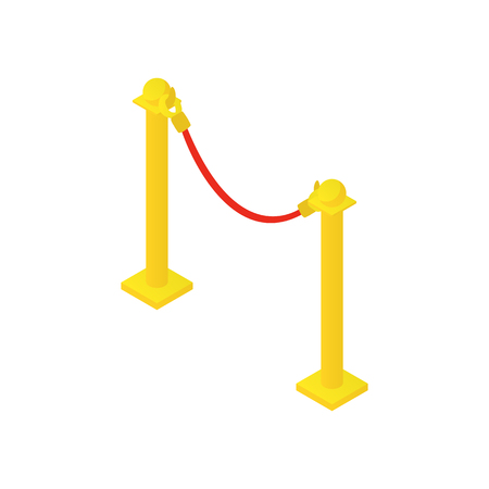 rope barrier: Rope barrier icon in cartoon style isolated on white background vector illustration Illustration