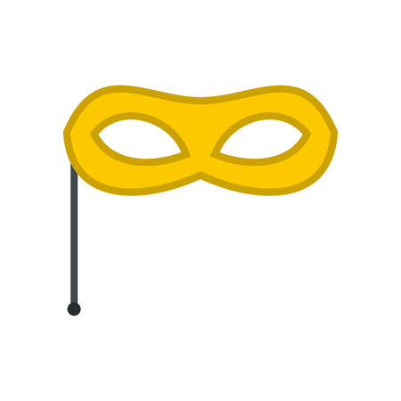 stage costume: Carnival mask icon in flat style isolated on white background. Events and parties symbol vector illustration Illustration