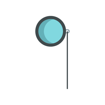 pocket watch: Pocket watch icon in flat style isolated on white background. Time symbol vector illustration Illustration