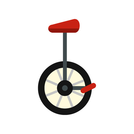 Unicycle icon in flat style isolated on white background. Riding symbol vector illustration Illustration