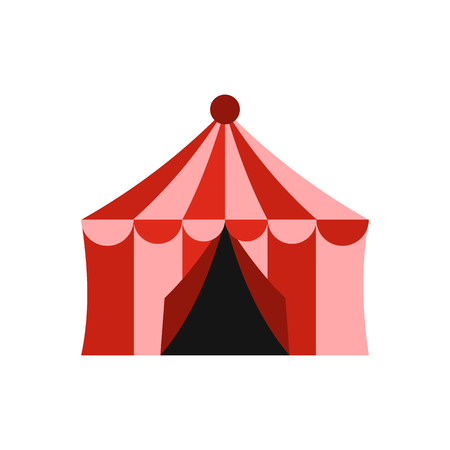 Circus tent icon in flat style isolated on white background. Circus symbol vector illustration