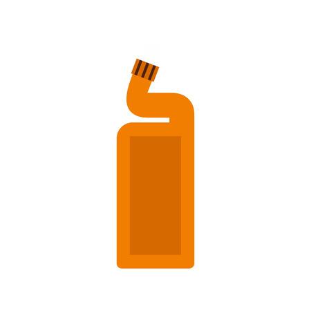 desinfectante: Desinfectante para el icono de baño en estilo plano aislado en el fondo blanco. Limpieza ilustración vectorial símbolo
