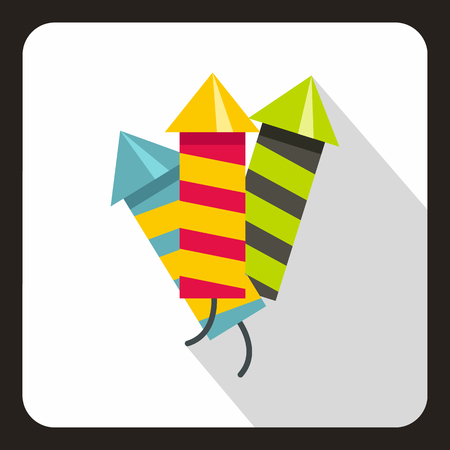 party poppers: Party poppers icon in flat style on a white background vector illustration