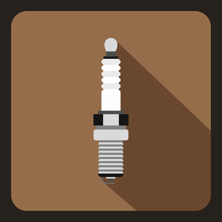 motor car candles: Car candle icon in flat style on a coffee background vector illustration