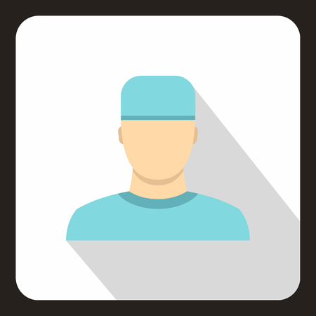 healer: Doctor icon in flat style with long shadow. Treatment symbol vector illustration Illustration