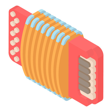 concertina: Modern accordion icon in cartoon style isolated on white background. Musical instrument symbol vector illustration